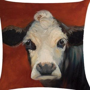Other - Pillow Cover- New- Country Cow at Barn on the Farm